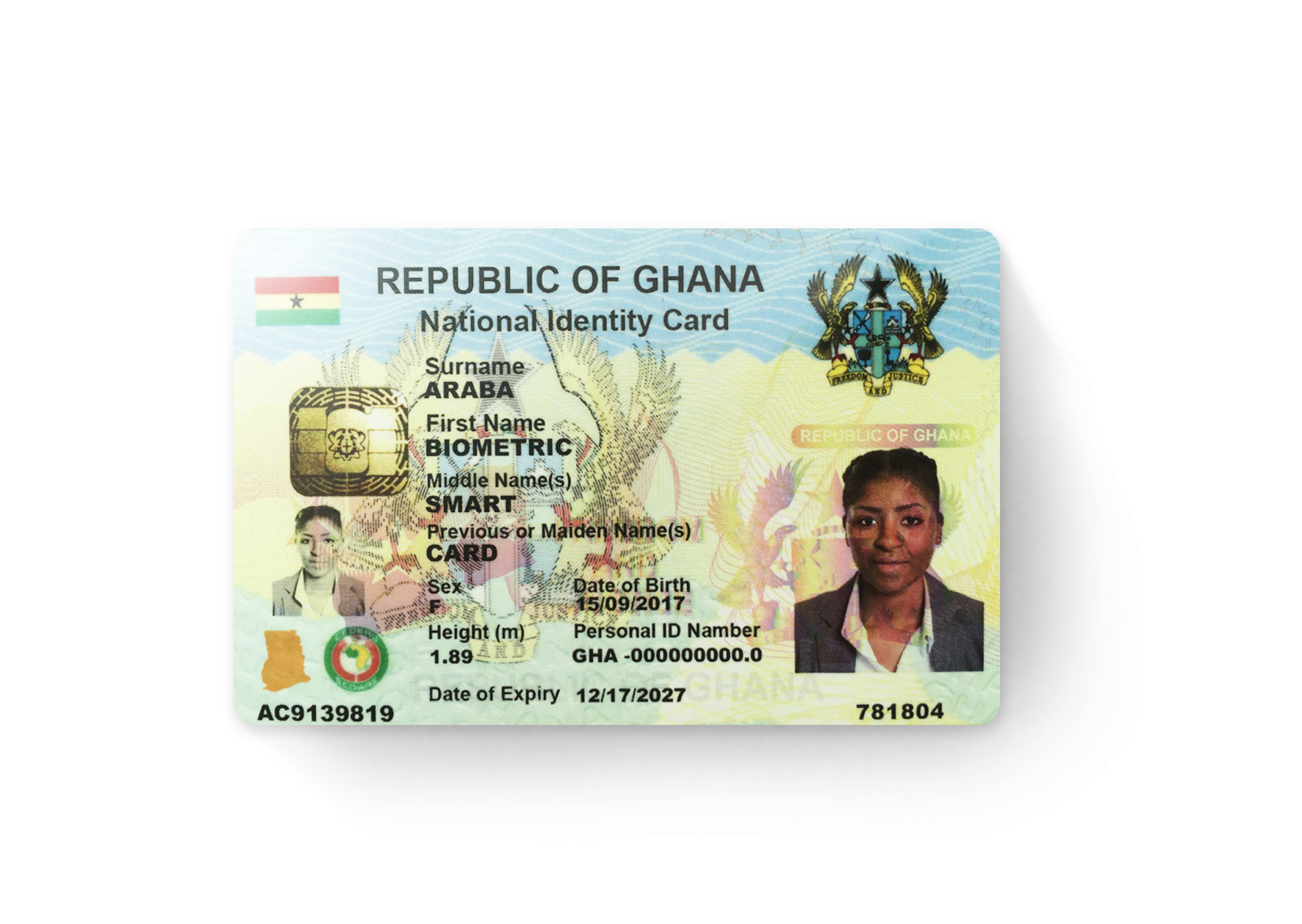 X Infotech Electronic Identity Eid Card For Ghana